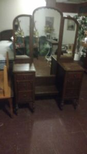 Antique Three Mirror Bureau for ONLY$100.00