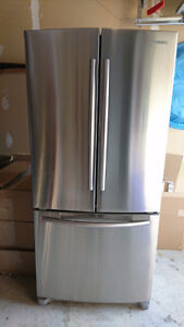 """Samsung 33"""" wide Stainless Steel French Door fridge (AS IS)"""