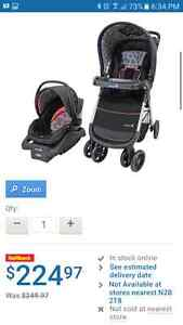 Safety 1st Amble Quad Stroller and infant carseat. Recieved as a