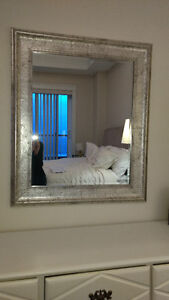 MOVING! - Large Silver Framed Mirror