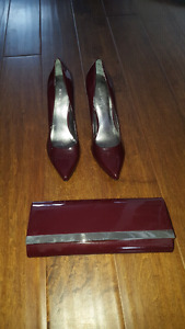 Nine West heels and matching clutch