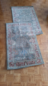 Two Pottery Barn Brice Persian rugs for sale