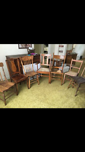 6-antique chairs-priced separately