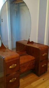 Beautiful Antique Vanity & Dresser Set