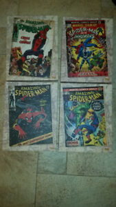 CANVAS WRAPPED MARVEL COMICS BOOK THE AMAZING SPIDER-MAN SET