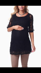 Black lace dress or top maternity size m Medium