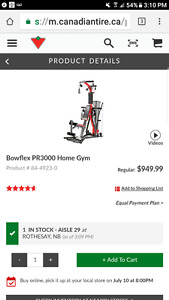 ****MINT CONDITION USED BOWFLEX PR3000****