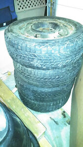 4 Winter Tires and Rims 195/65r15 London Ontario image 1