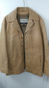 Tan Leather Jacket *MUST SEE!