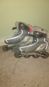 Nike roller blades- like new- size 9