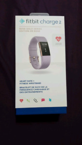 Fitbit Charge 2 - Rose Gold/Lavender in L *new in box*