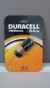 Duracell 64gb USB Memory Stick Brand New