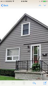 Central Urban detached house with garage available Jul 1st