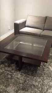 3 piece coffee table, end table and console table