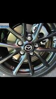 Center cap Mazda black gloss