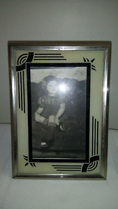 Art Deco Reverse Painted Picture Frame