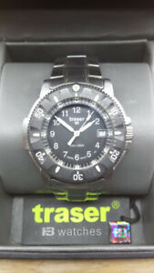 Traser Tritium Watch P6502 Navigator SS $120.00 OR BEST OFFER.