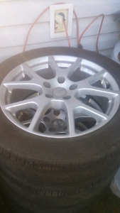 Selling 4 225 55 19 rims and tires journey caravan