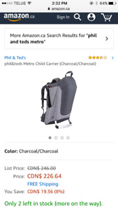 NEW- Phil & Ted metro child carrier