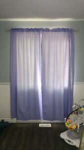 Purple and White Polka Dot Curtains*