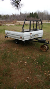 8 by 8 utility trailer with spare