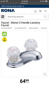 Manor Chrome Two Handle Low Arc Bathroom Faucet