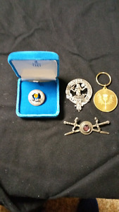 Scottish Brooches and Keychain
