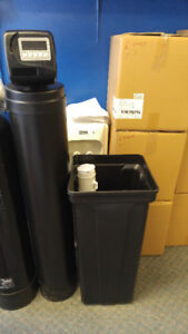 Demand water softener and chlorine removal