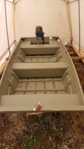Price Drop! 1236 Jon boat and New 9.9 four stroke Mercury