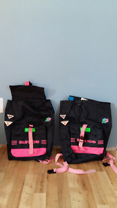 two retro sun ice backpacks