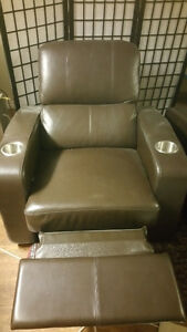 Two Recliner Theatre Chairs