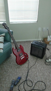 ELECTRIC GUITAR AND AMP EPIPHONE SG SPECIAL