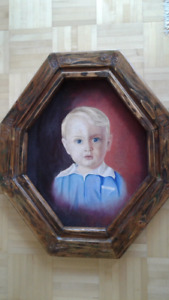 "Paint, ""Young Boy"", oil, previous century."