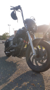 2008 harley street bob blacked out