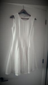 White dress kalvin clain
