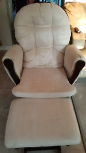 Glider Chair and Ottoman