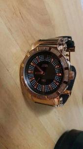 Rose Gold Plated Watch w/ 12 Diamonds