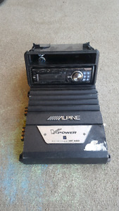 Apline Type S 10'' Subs, amplifier & stereo (Asking $900 OBO)