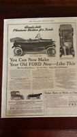 1917 PRINT AD, AMES, PLEASURE BODIES FOR FORD, MAKE IT NEW AGAIN