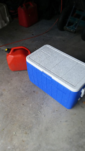 Coleman Cooler and Jerry Can