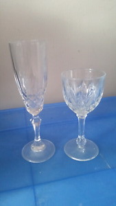 Crystal Wine Glass & Champagne Flutes