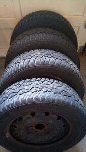 Snow tires and rims: 215 60 R16