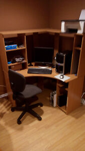 **COMPUTER DESK/2 TIER UNIT** PRICE REDUCED!!..MUST GO!!