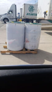 Flood relief, seasonal, 50 gallons shipping barrels