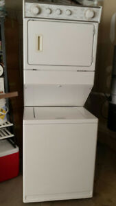"27"" Stacked electric heavy duty laundry center"