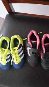 2 pairs of soccer cleats children's size 9