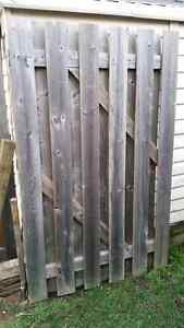 Pressure treated fence gate
