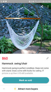 Hammock swing/chair!! (Indoor or outdoor)