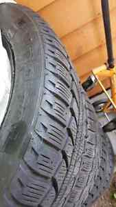 Honda Crv snow tires on steel rims Uniroyal  Tiger paws 17 inch