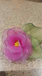 Brand new Hand made Nylon flower brooches with pin Kitchener / Waterloo Kitchener Area image 7